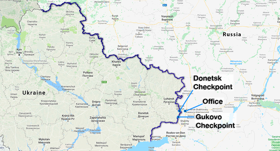 OSCE Observer Mission at the Russian Checkpoints Gukovo and Donetsk
