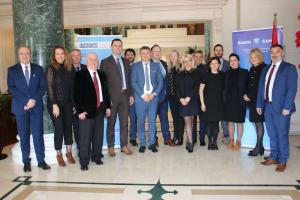 Members of the Balkan Asset Management Interagency Network at the OSCE-supported meeting held in Tirana on 12 and 13 February 2020. (Edin Šećerbegović)