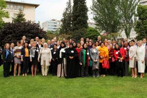 "Participants of the GCTF-OSCE workshop on ""Supporting Civil Society Initiatives to Empower Women's Roles in Countering Violent Extremism and Radicalization that Lead to Terrorism,"" Istanbul, 13 May 2014.  (OSCE/Mehdi Knani)"