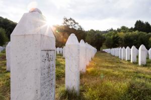 The Srebrenica–Potočari Memorial and Cemetery for the Victims of the 1995 Genocide. 16 July 2017. (Fredy Thuerig/Shutterstock.com)