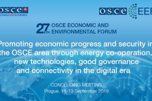 Concluding Meeting of the 27th OSCE Economic and Environmental Forum (OSCE)