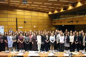 Participants of the 2nd OSCE Scholarship for Peace and Security training course on arms control, disarmament and non-proliferation, Vienna, 6 May 2019.  (UNODA)