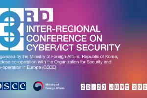 The 3rd Inter-Regional Conference on Cyber/ICT Security, held in Vienna in a virtual setting on 22 and 23 June 2021. (OSCE)