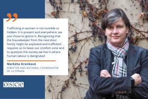 Markéta Hronková, Director and national coordinator of La Strada, Czech Republic (OSCE)