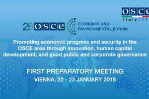 1st Preparatory Meeting of the 26th OSCE Economic and Environmental Forum. (OSCE)