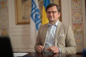 Ukrainian Foreign Minister Dmytro Kuleba addresses the meeting of the Forum for Security Co-operation via video teleconference, 29 April 2020. (Ministry of Foreign Affairs of Ukraine)