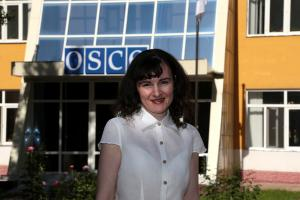 Viorelia Rusu, Gender and Anti-Trafficking Officer at the OSCE Office in Tajikistan, Dushanbe, May 2015. (OSCE/Nozim Kalandarov)