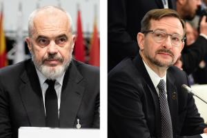 Edi Rama, OSCE Chairperson-in-Office, Prime Minister and Minister for Europe and Foreign Affairs of Albania; OSCE Secretary General Thomas Greminger.  (OSCE)