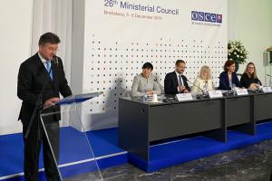 Launch of the toolkit on inclusion of women and effective peace processes, Bratislava, 5 December 2019  (OSCE)