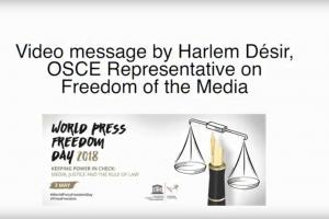 Harlem Désir, OSCE Representative on Freedom of the Media, discusses the importance of press freedom and decries all attacks on journalists across the OSCE region.