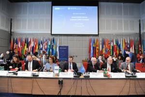 "Opening speakers of the Joint Regional High-level Conference on ""Foreign Terrorist Fighters – Addressing Current Challenges"", Vienna, 11 February 2020. (OSCE/Micky Kroell )"