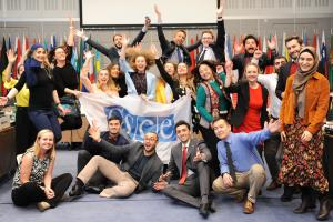 Young experts of the  OSCE's 'Perspectives 20-30' initiative met in Vienna on 15 and 16 May 2019 to develop a vision for a safer future. (OSCE/Micky Kroell)