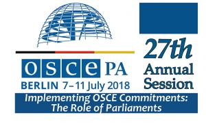 OSCE Parliamentary Assembly's 27th Annual Session, Berlin, 7-11 July 2018. (OSCE)