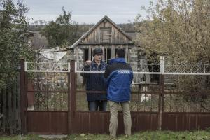 OSCE SMM monitors support efforts to alleviate civilian suffering in eastern Ukraine.