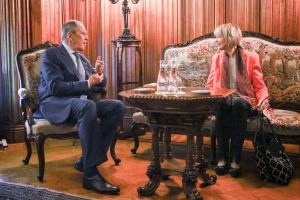 OSCE Secretary General Helga Maria Schmid and Sergey Lavrov, Minister of Foreign Affairs of the Russian Federation, Moscow, 21 June 2021. (Russian Federation Ministry of Foreign Affairs)