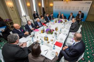 The first formal working meeting of the Panel of Eminent Persons in Munich, 8 February 2015. (Munich Security Conference Foundation)