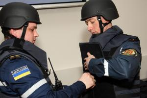 Handover of the equipment for the removal of the unexploded ordnances,  Kyiv, 14 April 2016. (State Emergency Service of Ukraine )