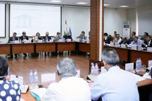 Участники 11-го заседания Целевой группы, Душанбе, 10 августа 2017 г.  (ОБСЕ/Эрадж Асадуллаев) (OSCE/Eraj Asadullaev)