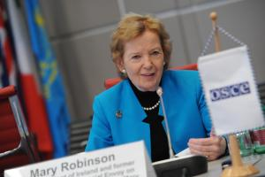 Mary Robinson, former President of Ireland and former United Nations High Commissioner for Human Rights, former UN Special Envoy on Climate Change, and founder of the Mary Robinson Foundation, Vienna, 5 july 2019. (OSCE/Micky Kroell)