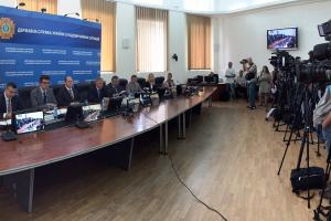 Launch of an OSCE-supported project aimed at strengthening the State Emergency Service of Ukraine's (SESU) capacity to clear explosive munitions in the Donetsk and Luhansk regions. (OSCE/K.Podbevsek)