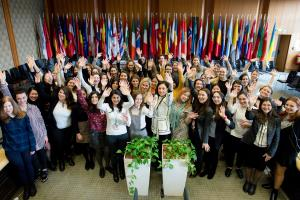Participants of the OSCE Scholarship for Peace and Security training course on arms control, disarmament and non-proliferation, Vienna, 14 February 2018.   (OSCE/Salko Agovic)