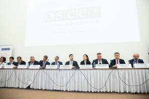 Lukáš Parízek, State Secretary of the Ministry of Foreign and European Affairs of the Slovak Republic, addresses the opening of the 2019 OSCE-wide Counter-Terrorism Conference, Bratislava, 25 March 2019. (Tomas Bokor/Ministry of Foreign and European Affairs of the Slovak Republic)