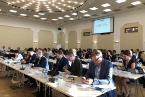 Participants during the discussion on the role of civil society in combating trafficking in human beings, 23 October 2019, Bratislava.  (OSCE/Lilia Rotoloni)