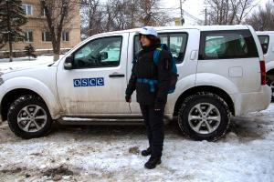 A border observer preparing to leave for a daily 24-hour shift at the border crossing points Gukovo and Donetsk, Kamensk-Shakhtinsky, 2 February 2018. (OSCE/Suzana Asenova)