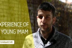 "Cover image for the ""Experience of a young Imam"" video. (OSCE)"