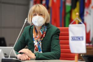 OSCE Secretary General Helga Maria Schmid, Vienna, 28 January 2021.  (OSCE/Micky Kroell )