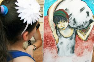 Children's Visual Art Contest organised by the OSCE Presence in Albania and various state institutions, on the occasion of the World Day Against Child Labour, Tirana, 12 June 2015. (OSCE/Joana Karapataqi)
