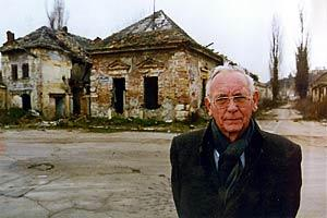 "The first OSCE High Commissioner on National Minorities, Max van der Stoel (seen here in Vukovar, Croatia), is often referred to as the ""silent diplomat"" for his work to resolve ethnic conflicts. (OSCE)"
