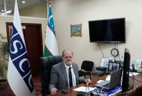 John Macgregor, OSCE Project Co-ordinator in Uzbekistan, Tashkent, 20 May 2020. (OSCE/Gulom Turdaliev)