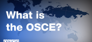 With 57 participating States in North America, Europe and Asia, the OSCE is the world's largest regional security organization.