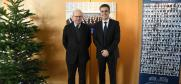 Emmanuel Decaux, President of the Court and Linos-Alexandre Sicilianos, President of the European Court of Human Rights, Strasbourg, 3 December 2019.  ( European Court of Human Rights)