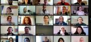 "Participants of the OSCE ""Leaders against Intolerance and Violent Extremism"" (LIVE) interactive webinar delivered jointly with the Kofi Annan Foundation, 22 February 2021. (OSCE)"