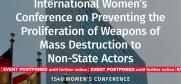 1540 Women's conference, Bangkok, 25-27 February 2019. Update: This event has been postponed until further notice. (OSCE)