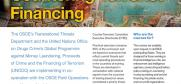 "Cover - Factsheet ""OSCE-UNODC Training Programme on Countering Terrorist Financing"" (OSCE)"