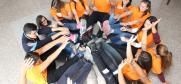 "Team orange, working on a conflict resolution exercise during the ""United in Krusevo"" seminar, Krusevo, 4-7 October 2017. (OSCE/Mihajlo Lahtov)"