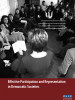 Front cover of an ODIHR brochure on Effective Participation and Representation in Democratic Societies (OSCE)