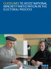 Front cover of the Guidelines to Assist National Minority Participation in the Electoral Process (OSCE)