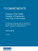 Cover of Commitments: Freedom of the Media, Freedom of Expression, Free Flow of Information, 1975-2012 (2nd edition)