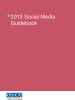 Cover of the 2013 Social Media Guidebook (OSCE)