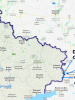 A map marked with the Russian checkpoints Gukovo and Donetsk, where OSCE Observers are stationed. (Google Maps)