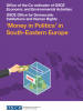 'Money in Politics' in South-Eastern Europe factsheet cover. (OSCE)