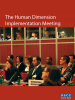 Front cover of the factsheet on the Human Dimension Implementation Meeting (OSCE)