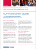 Front cover of a factsheet explaining the work of the OSCE/ODIHR in assisting OSCE participating States in advancing equality between men and women in all spheres of life and at all levels. (OSCE)