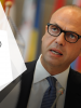 OSCE Chairperson-in-Office, Italy's Foreign Minister Angelino Alfano, and OSCE Secretary General Thomas Greminger deliver a press conference in Vienna, 11 January 2018. (OSCE)