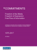 The commitments by OSCE participating States in the fields of freedom of the media, freedom of expression and the free flow of information.