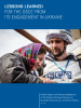 "Cover of the report ""Lessons learned for the OSCE from its engagement in Ukraine"" (OSCE)"